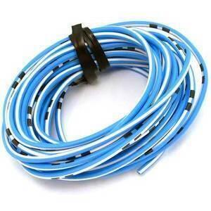 Cavo elettrico 0,82mm blu/bianco