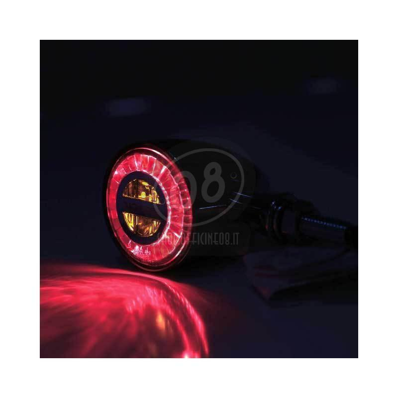 Led winkers Highsider Rocket Classic black taillight combo smoked pair - Pictures 4
