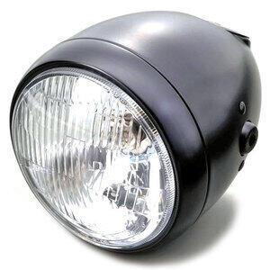 Halogen headlight 5.3/4'' Daytona Vintage black