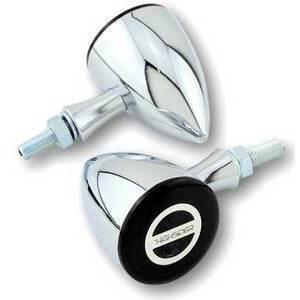 Led winkers Highsider Rocket Bullet chrome smoked pair