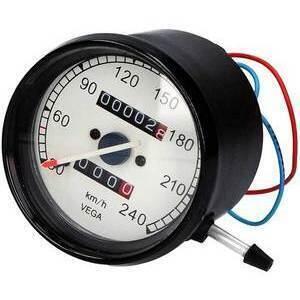 Mechanical speedometer Vega body black dial white