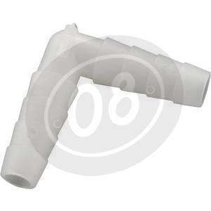 Connettore tubo benzina 90° 10mm