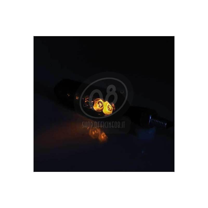 Led winkers sequence light Mirror black matt pair - Pictures 4