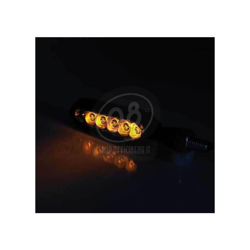 Led winkers sequence light Mirror black matt pair - Pictures 3