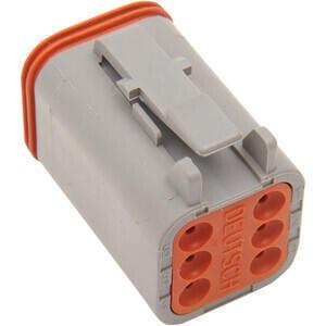 Connettore cavi elettrici per Harley-Davidson DT 6 poli maschio grigio