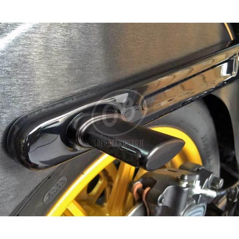 Coppia frecce led per Harley-Davidson -'17 con fanalino posteriore Heinz Bikes Winglets nero opaco fumè - Foto 3