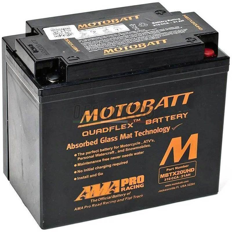Vente Couleurs variées prix bas Batteria per Harley-Davidson Sportster sigillata MotoBatt MBTX20UHD Black  12V-21Ah