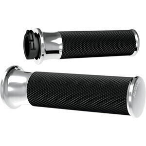 Handlebar grips Harley-Davidson Big Twin '82-'99 Arlen Ness Smooth chrome