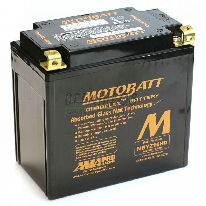 gros remise nouvelle saison liquidation à chaud Batteria per Harley-Davidson Street sigillata MotoBatt MBYZ16HD Black  12V-16.5Ah