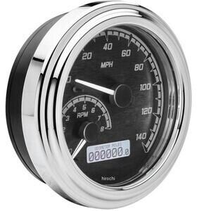 Electronic multifunction gauge Harley-Davidson Dyna '04-'10 Dakota Digital body chrome dial black