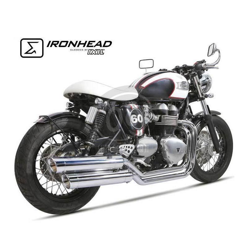 Exhaust system Triumph Bonneville 900 i e  Ironhead 2-2 chrome