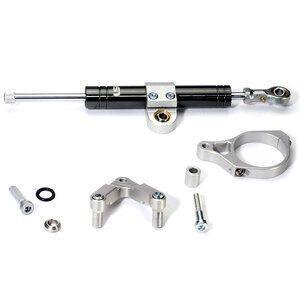 Kit ammortizzatore di sterzo per Triumph Bonneville 800 LSL Titan nero completo