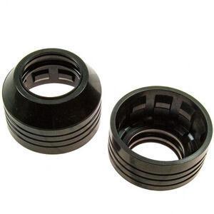 Fork dust covers Kawasaki Z 400 J pair black