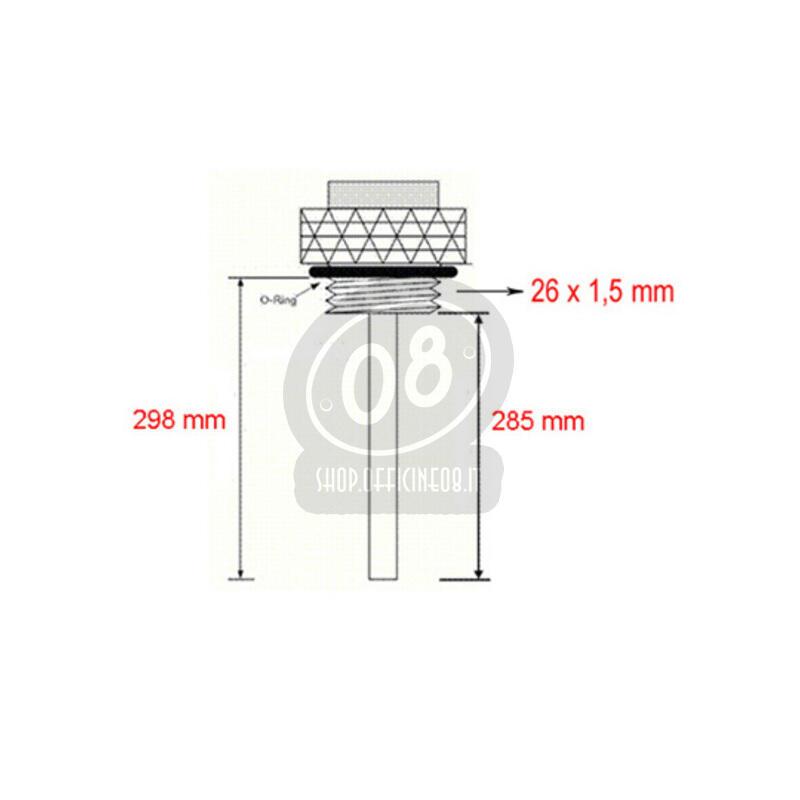 Termometro olio per BMW R Boxer 2V fondo nero - Foto 2