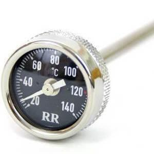 Engine oil thermometer M26x1.5 lenght 120mm dial black