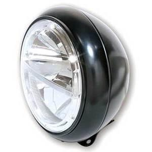 Full led headlight 7'' Harley-Davidson Highsider Voyage low mounting black matt