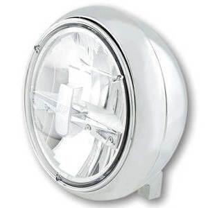Full led headlight 7'' Highsider Yuma2 low mounting chrome