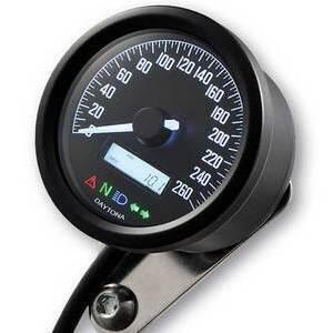 Electronic speedometer Daytona60 control lights 260Km/h black