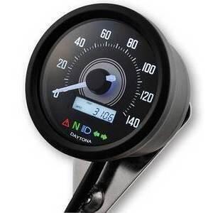 Electronic speedometer Daytona60 control lights 140Km/h black