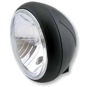 Faro anteriore 7'' Yuma alogeno attacco basso nero opaco lente liscia
