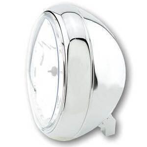 Halogen headlight 7'' Yuma2 chrome lens clear