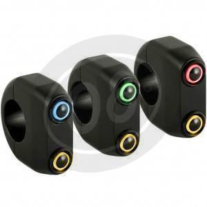 Button set 22mm M-Switch 2 LED black