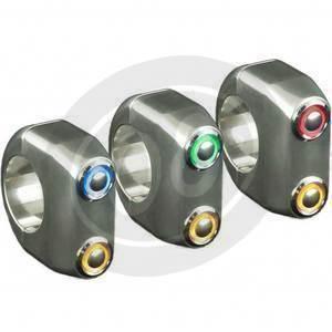 Pulsantiera 22mm 2 Push Button LED cromo