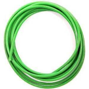 Aeronautical brake hose 10cm to assemble braided green