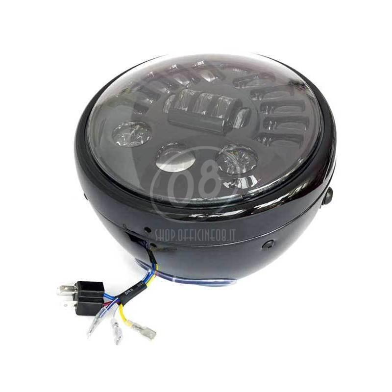 Full led headlight 7'' Multi with winkers black polish - Pictures 2