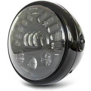 Full led headlight 7'' Multi with winkers black polish