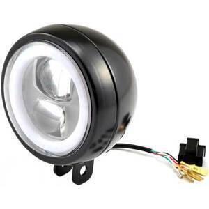 Full led headlight 4.75'' Daytona Capsule-120 low mounting black