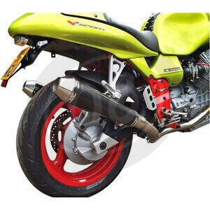 Finale di scarico per Moto Guzzi V 11 Mistral conico carbonio coppia - Foto 2