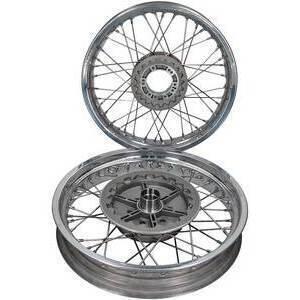 Complete spoke wheel kit Moto Guzzi Serie Grossa 18''x2.15 - 18''x2.15