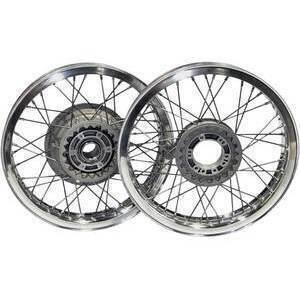 Complete spoke wheel kit Moto Guzzi Serie Grossa 18''x2.15 - 18''x2.50 reinforced