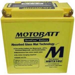 Batteria di accensione MotoBatt MBTX16U 12V-19Ah