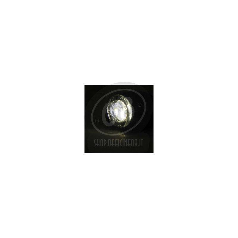 Coppia fari supplementari luce di posizione led Highsider Proton Two nero opaco fumè - Foto 2