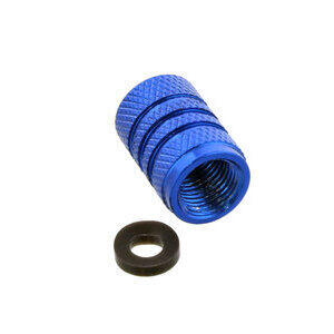 Tire valve stem caps Pro Bolt alloy blu