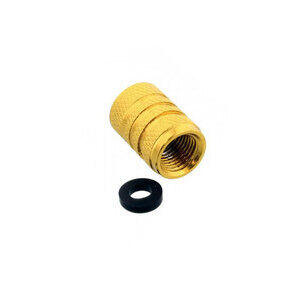 Tire valve stem caps Pro Bolt alloy gold