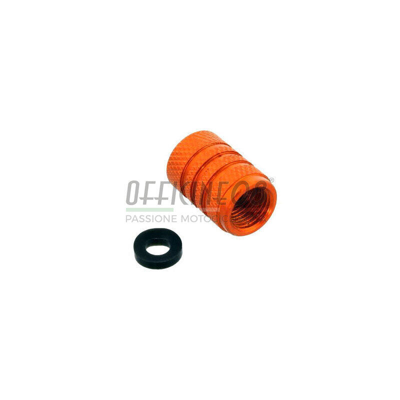 Tappo valvole pneumatici Pro Bolt alluminio arancione