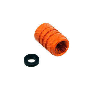 Tire valve stem caps Pro Bolt alloy orange