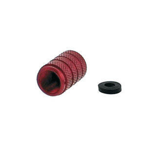 Tire valve stem caps Pro Bolt alloy red