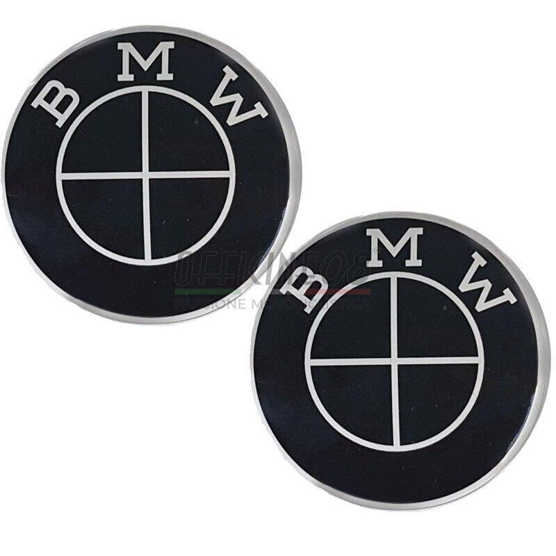 Emblema serbatoio per BMW R Boxer 2V 70mm autoadesivo nero coppia