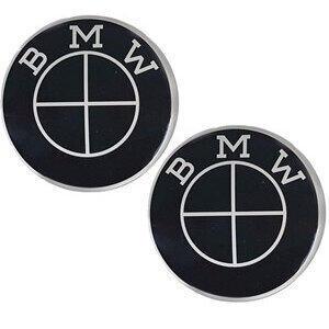 Fuel tank emblem BMW 70mm self-adhesive black pair