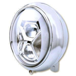 Full led headlight 7'' Highsider Yuma2 Type8 low mounting chrome