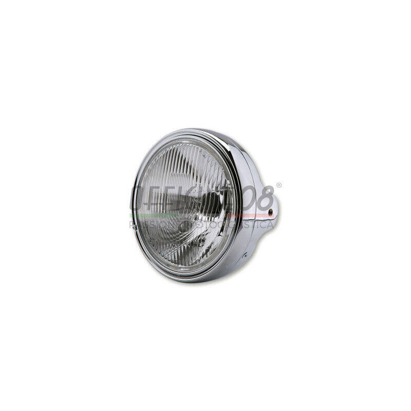 Halogen headlight 7'' Lucas pattern lens chrome