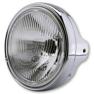 Halogen headlight 7'' Lucas pattern lens chrome