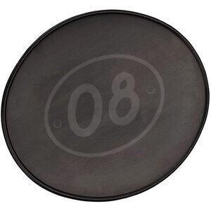 Number plate holder oval flat black