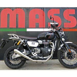 Impianto di scarico per Triumph Scrambler 1200 Mass 2 in 1 Cafe Racer