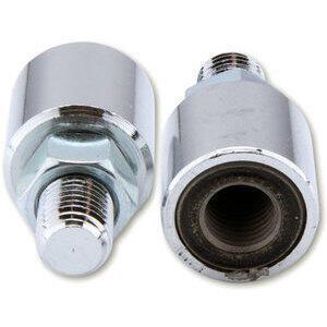 Coppia adattatori antivibrazioni M10x1.25 destro-destro destro-sinistro cromo