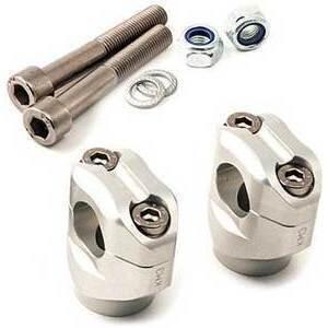 Riser per Triumph Scrambler 1200 manubrio 28.5mm LSL +5mm grigio coppia